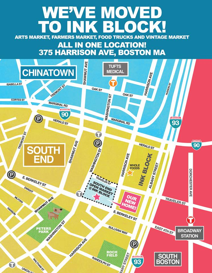 South End Open Market at the Ink Block Map